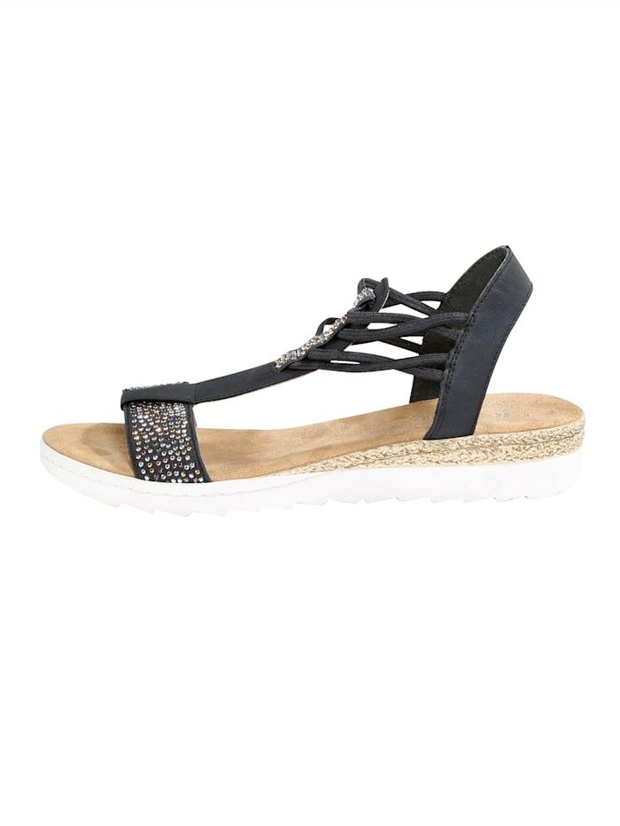 Koristekivisomisteiset rieker-sandaalit