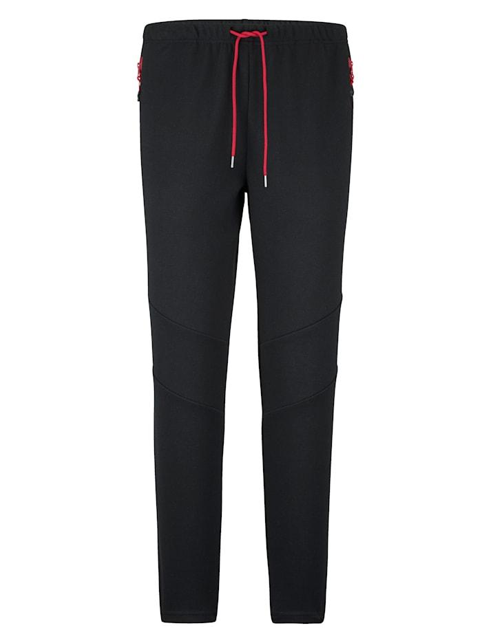 BABISTA Pantalon de loisirs en matière au séchage rapide, Noir