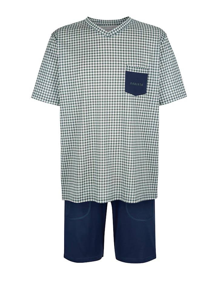 BABISTA Pyjashort en coton mercerisé, Bleu