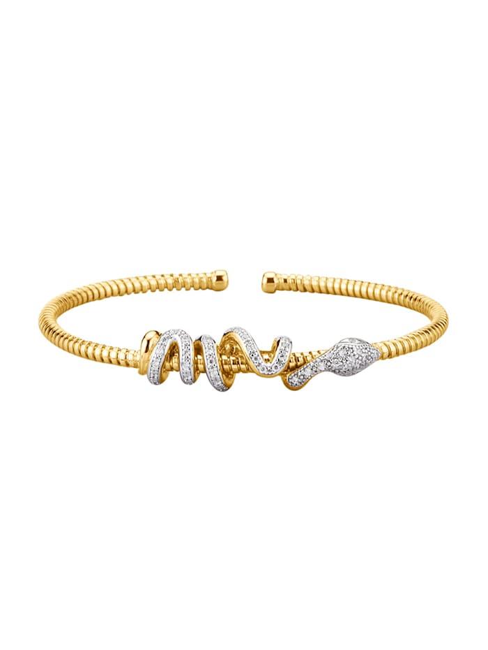 "Amara Tendance Bracelet ""Serpent"", Coloris or jaune"