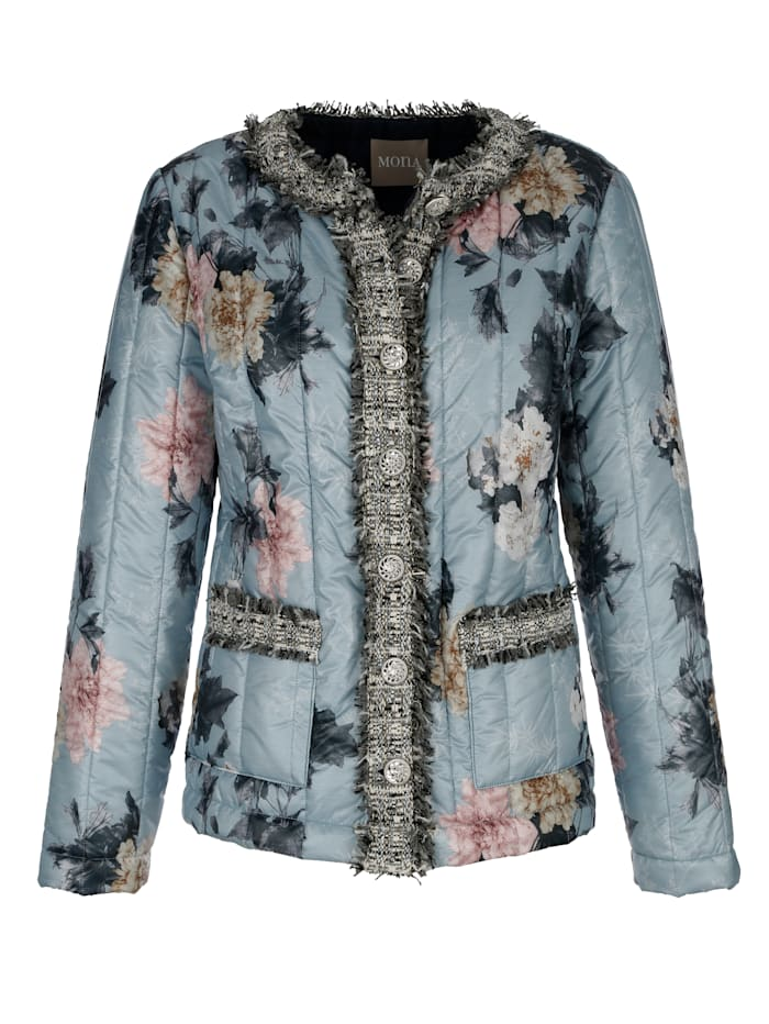 Quilted jacket in a gorgeous floral print