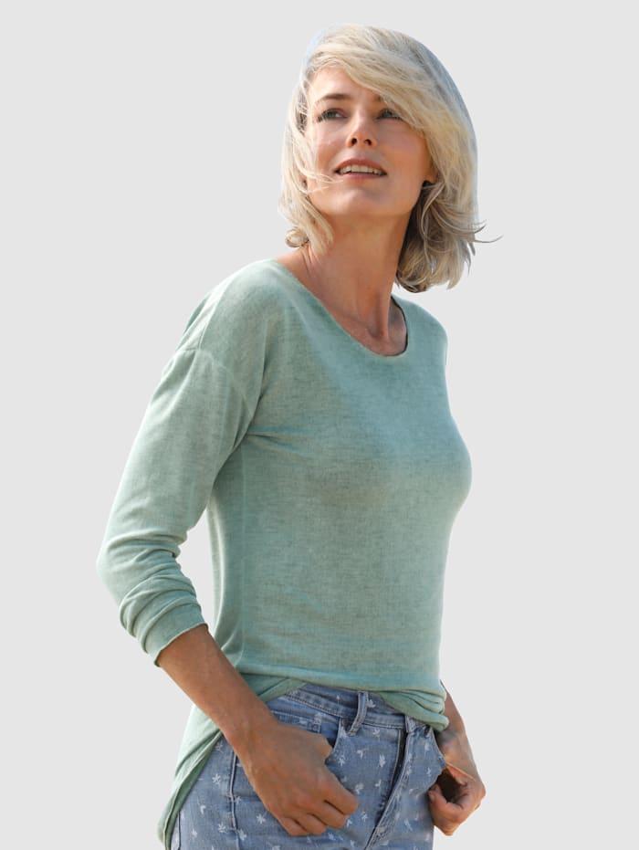 Dress In Shirt mit außergewöhnlicher Waschung, Salbeigrün