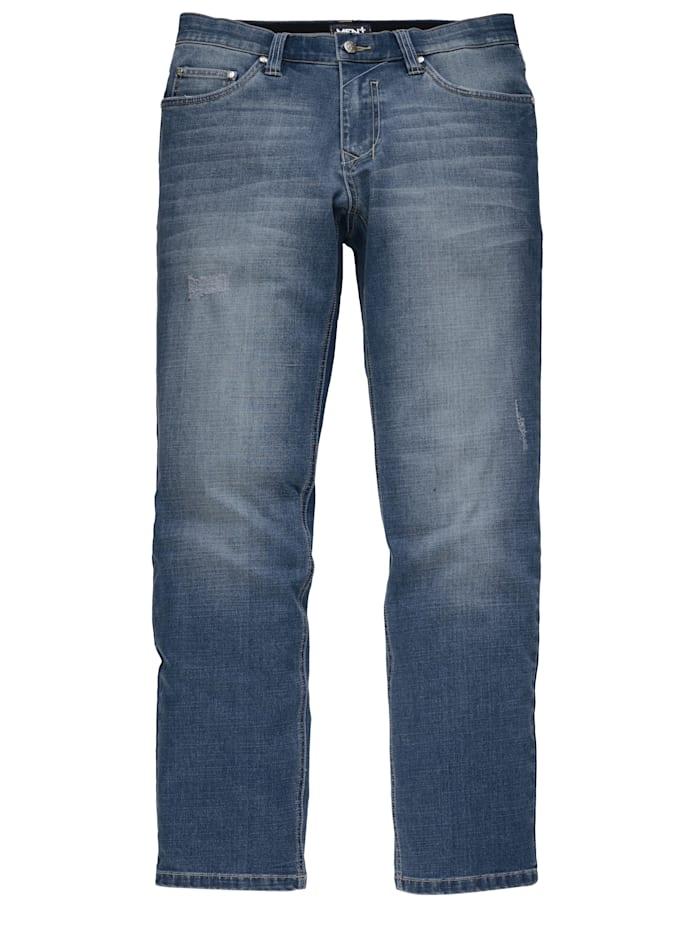 Men Plus Jeans med extra vidd över magen, Dark blue