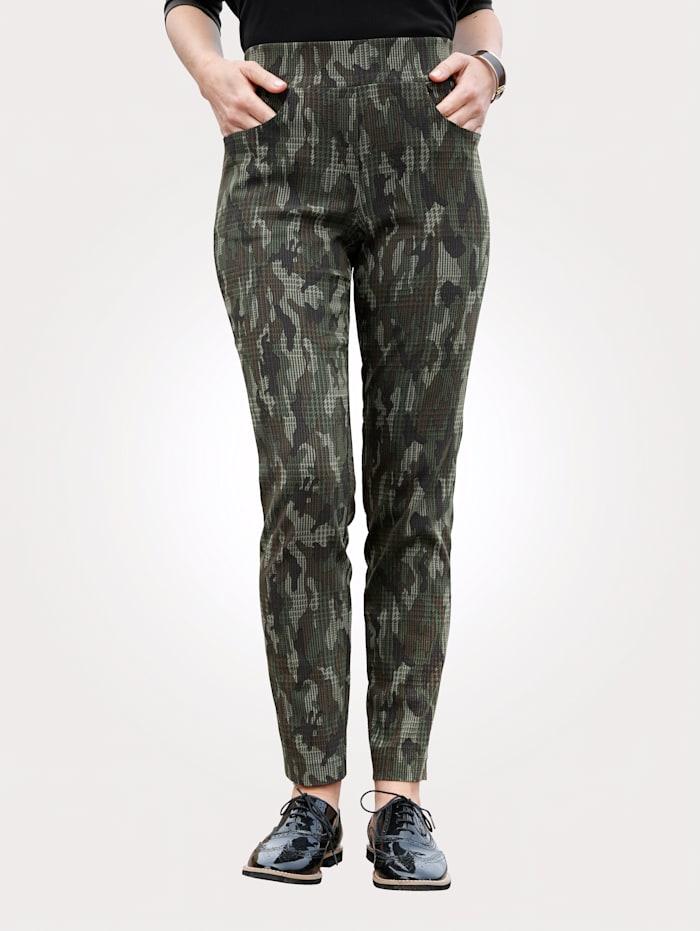 MONA Schlupfhose mit Camouflage-Muster, Khaki/Braun/Natur
