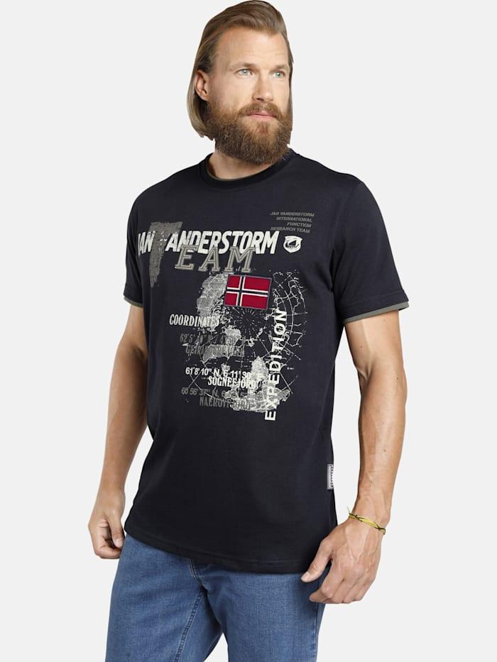 Jan Vanderstorm Jan Vanderstorm T-Shirt SÖLVE, dunkelblau
