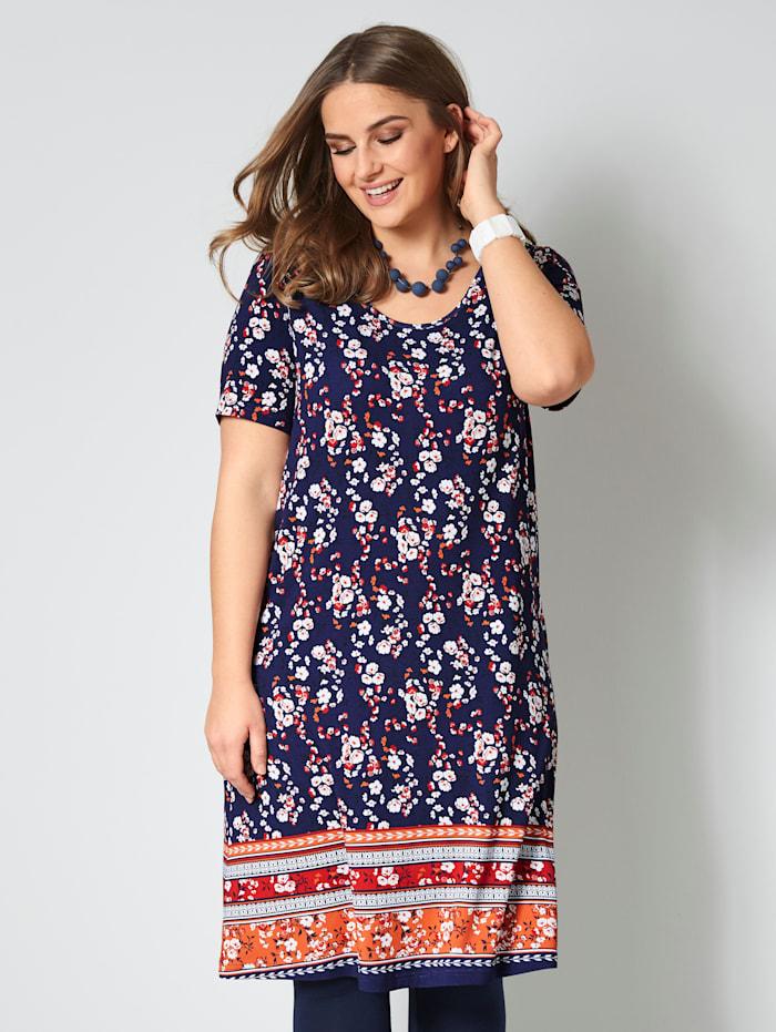 Jersey jurk met grafisch dessin