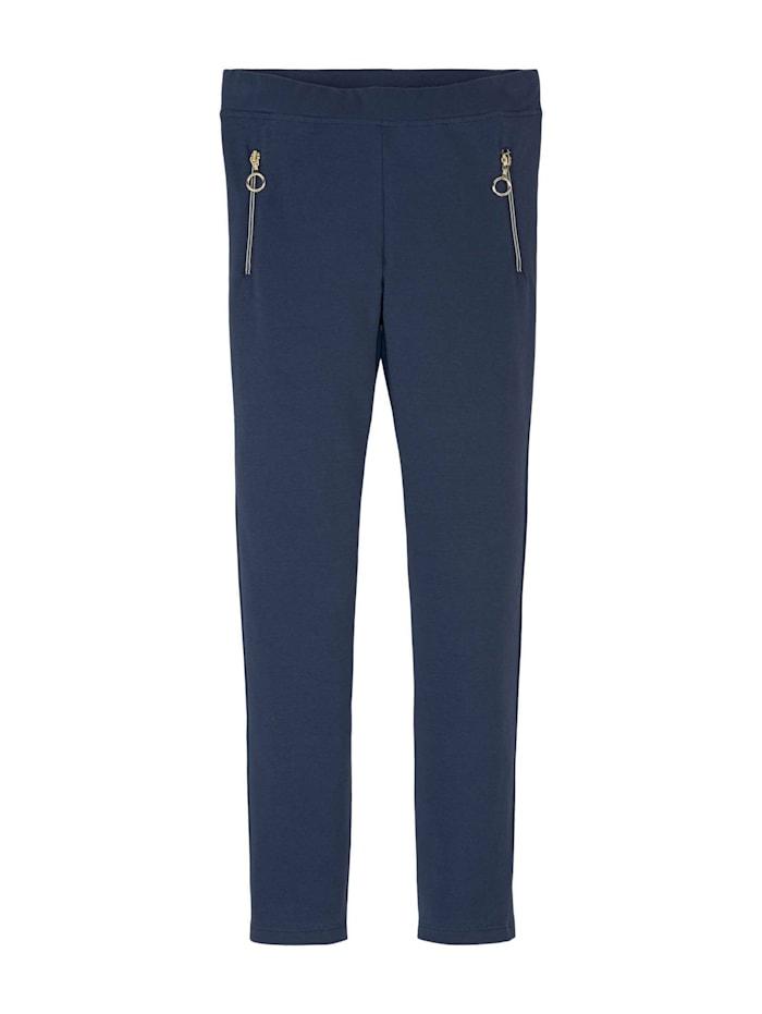 Tom Tailor Leggings mit Reißverschlüssen, dress blue blue