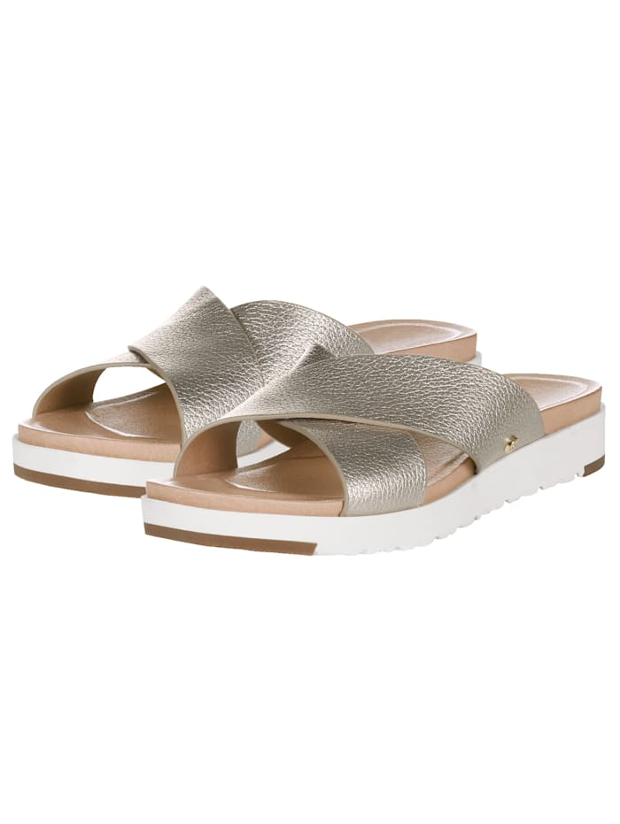 UGG Kari Metallic Sliders, Goldfarben