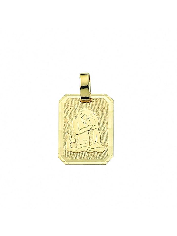 1001 Diamonds Damen & Herren Goldschmuck 333 Gold Sternzeichen Anhänger Wassermann, gold