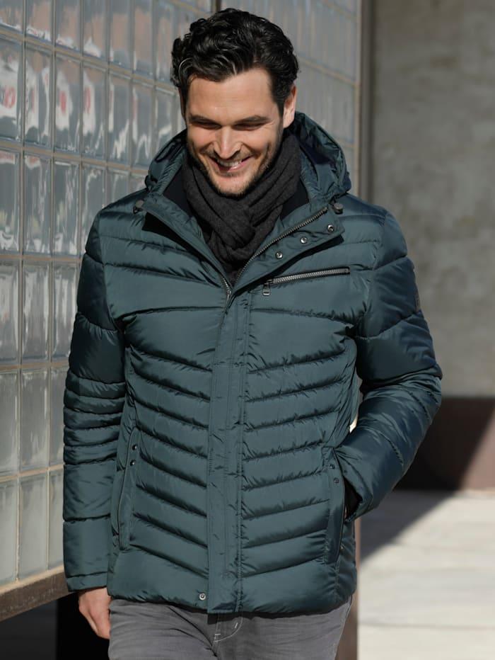 BABISTA Gewatteerde jas met afneembare capuchon, Donkergroen