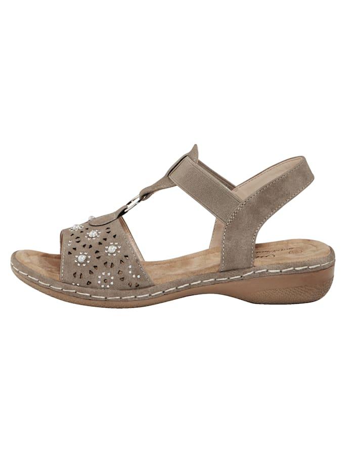 Sandale mit Elastband