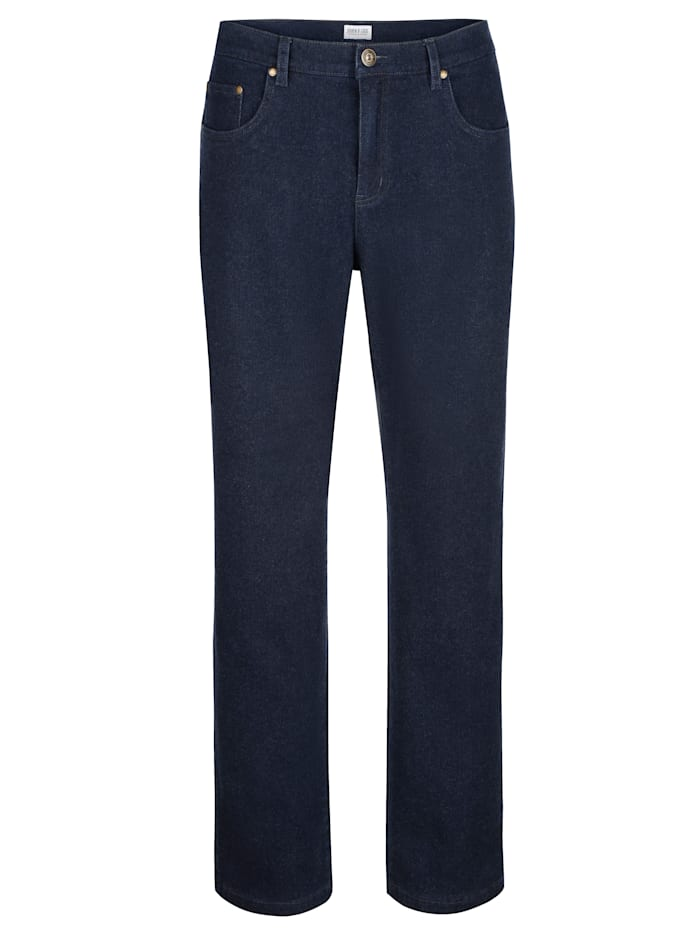 Roger Kent Jeans in wollook, Blue stone