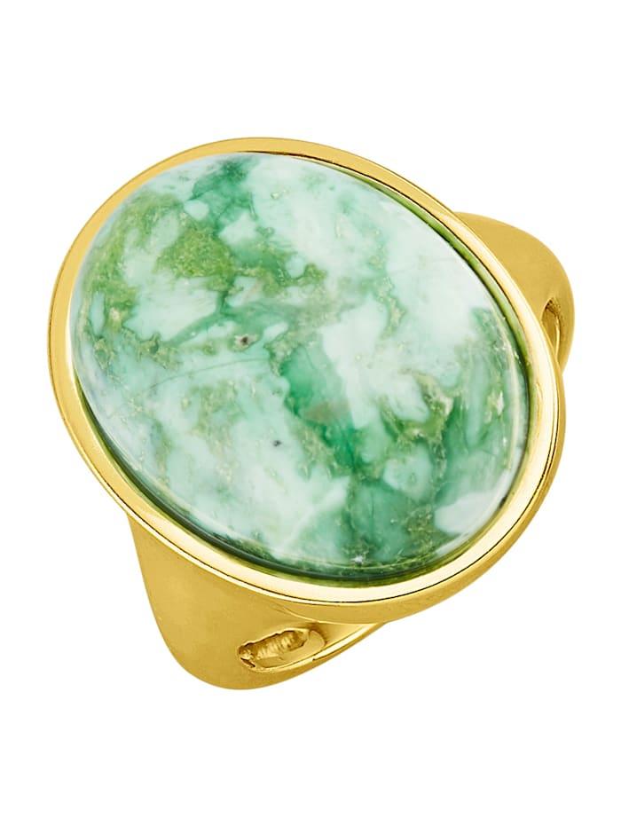 Damenring in Silber 925, Grün