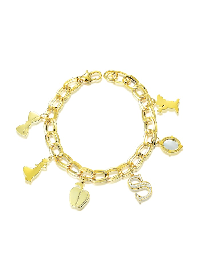 Couture Kingdom Couture Kingdom Armband Disney Schneewittchen Charms, Gelbgold