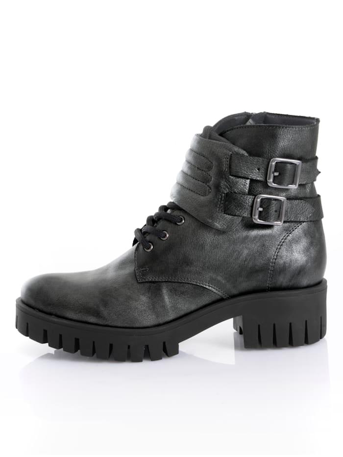 Boot in metallic look