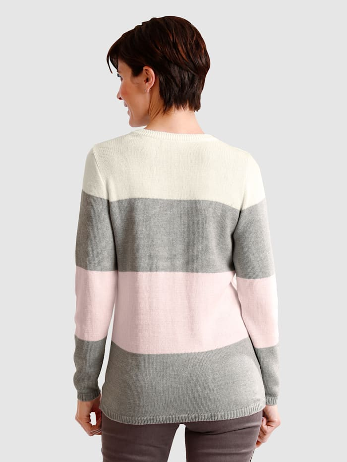 Pullover in Streifendessin