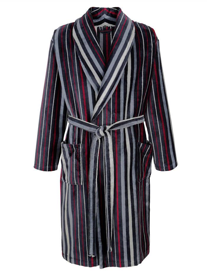 Robe de chambre Matière en velours éponge de qualité, Anthracite