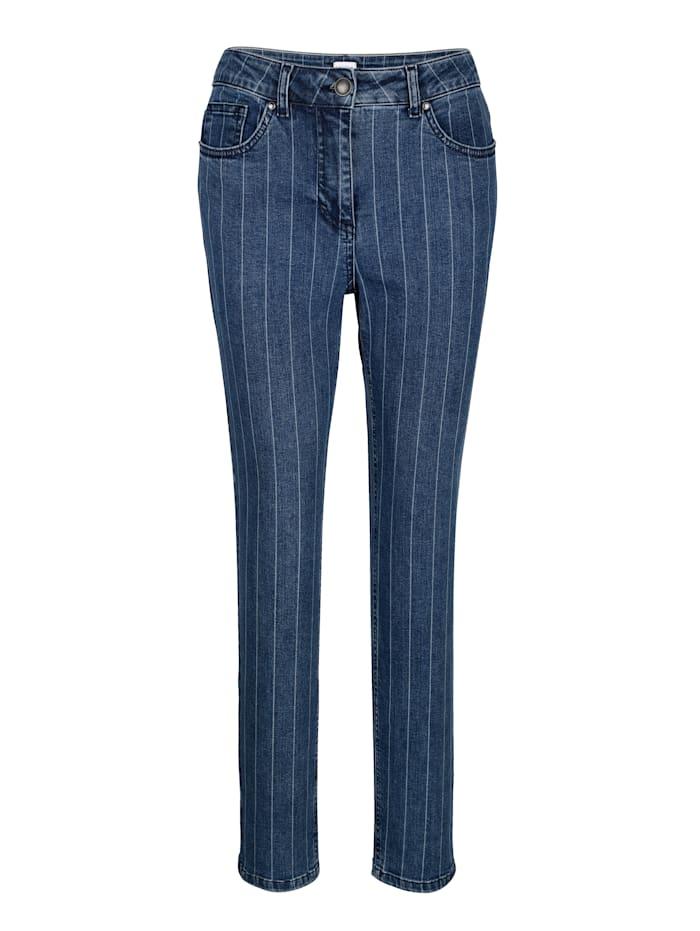 Jeans met tijdloos streepdessin