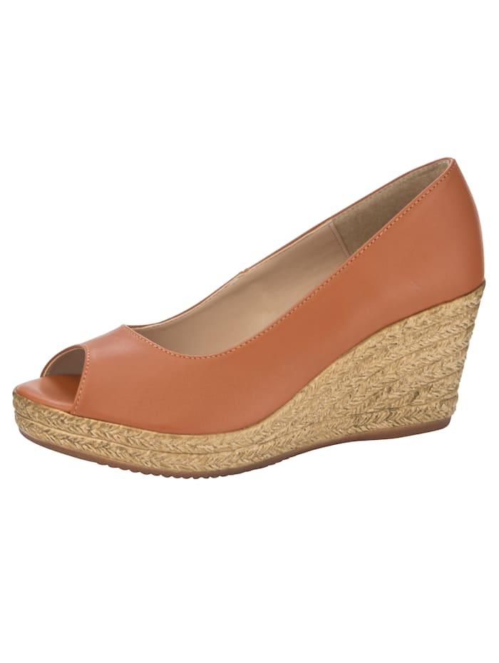 Peep Toe Wedge made of high-quality napa leather