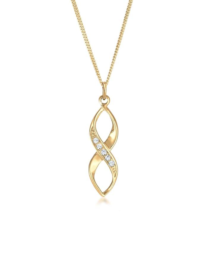 Elli Halskette Infinity Verziert Kristalle 925 Silber, Gold