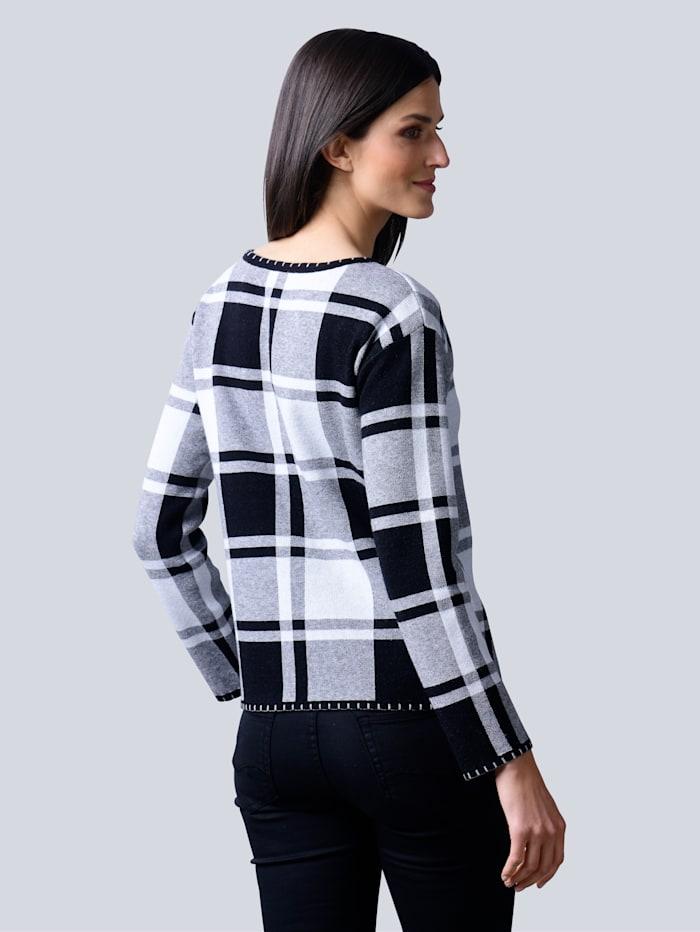 Pullover allover im Karomuster