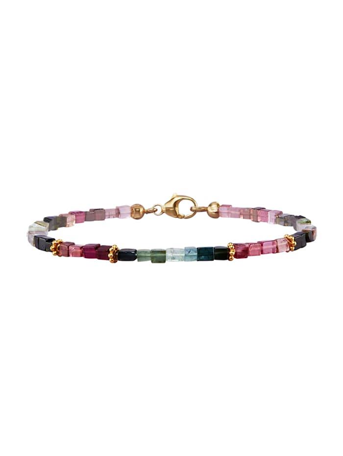 Bracelet avec tourmaline, Multicolore