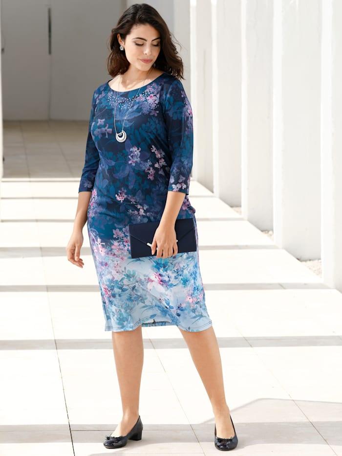 m. collection Kleid mit hübschem Blumendruck, Multicolor