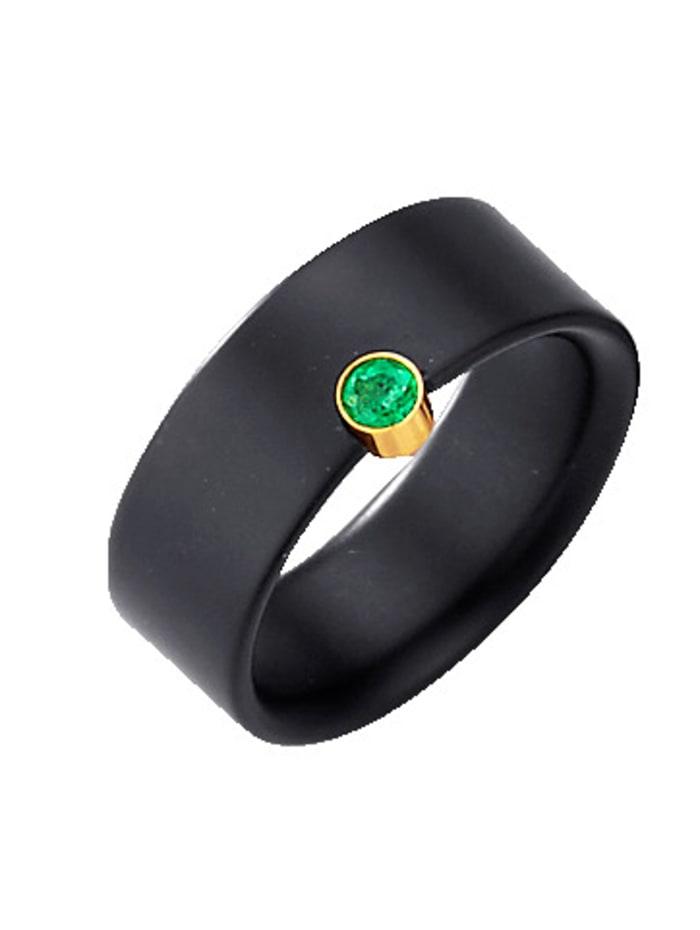 Amara Farbstein Onyx-Ring, Schwarz