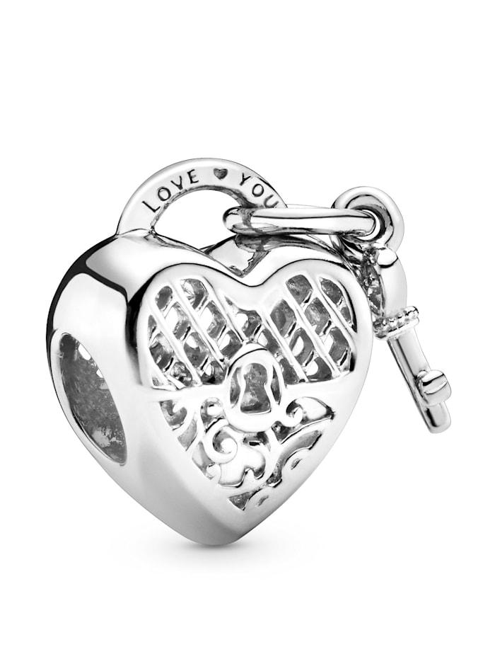 Pandora Charm -Herschloss mit Schlüssel- 797655, Silberfarben
