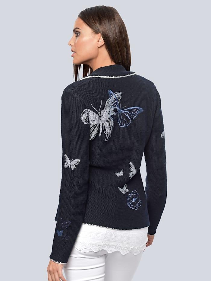 Cardigan im Alba moda exklusivem Druck und Stickereien allover