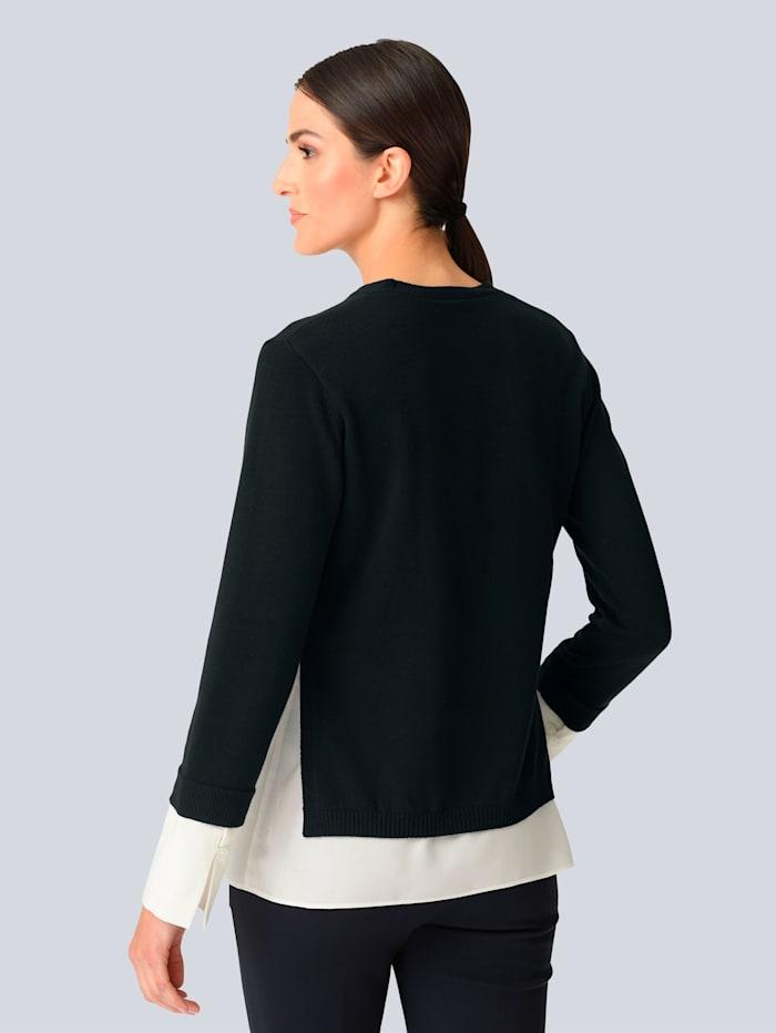 Pullover mit Webeinsatz