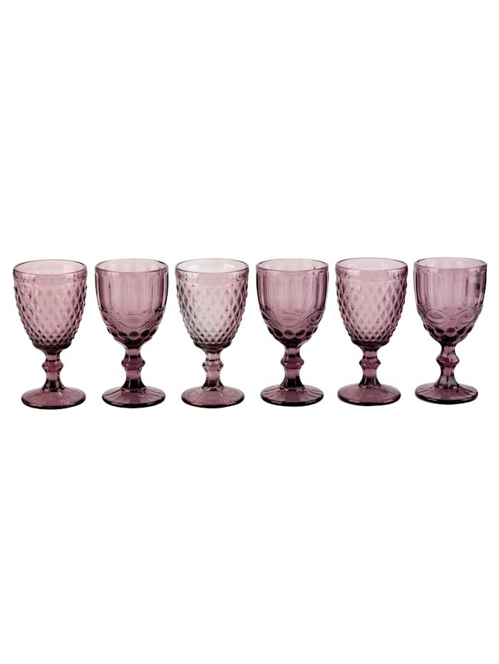 Boltze Weinglas-Set, 6-tlg., rosa
