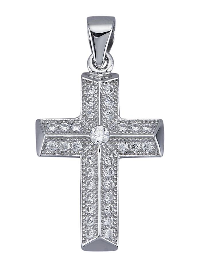 Hänge – kors, Silverfärgad