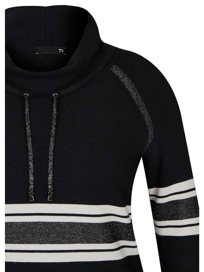 Pullover mit gestreiftem Muster und Glitzergarn