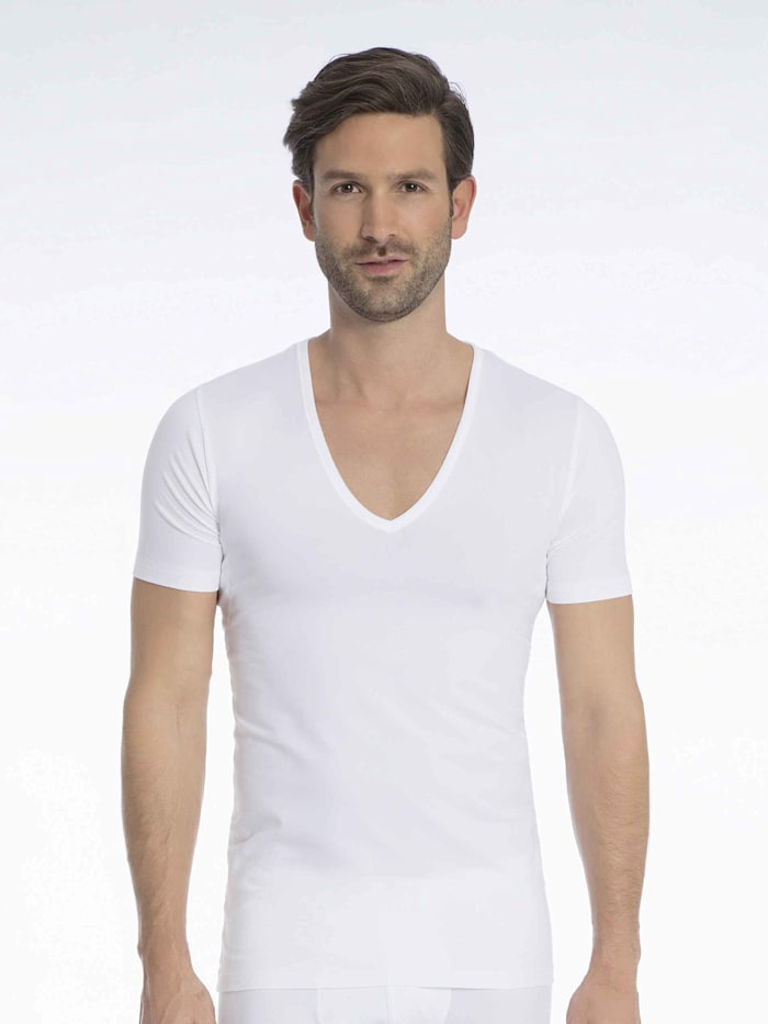 Atmungsaktives Business Shirt mit V-Neck