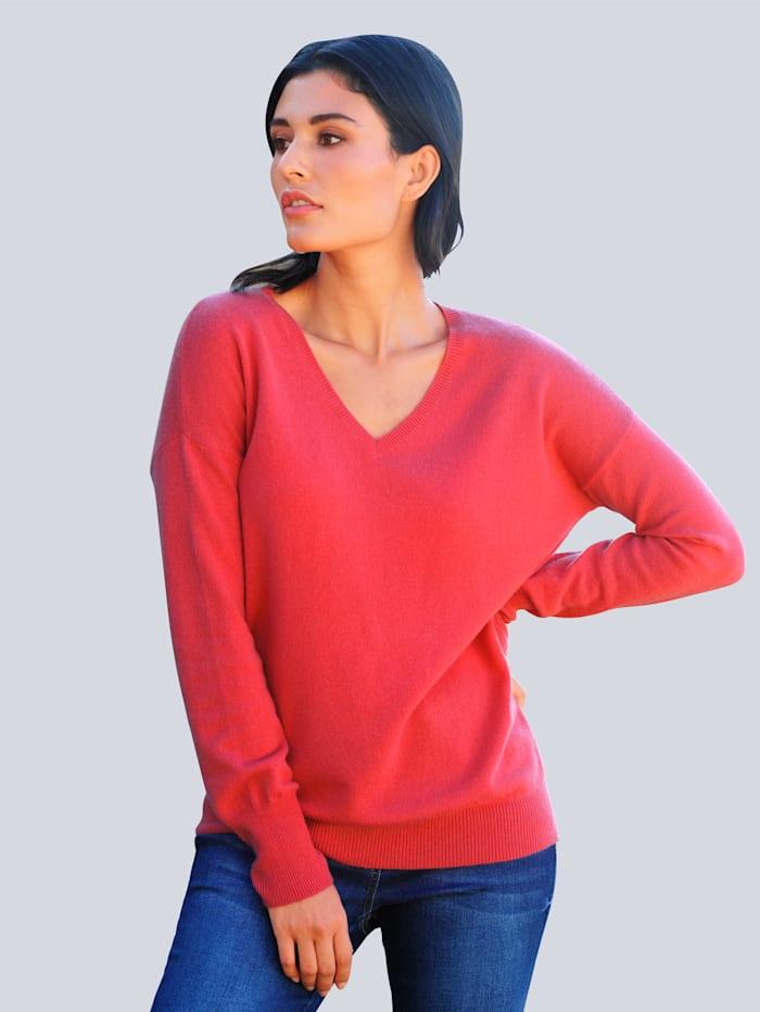 Alba Moda Pullover aus edler Kaschmir-Qualität, Koralle
