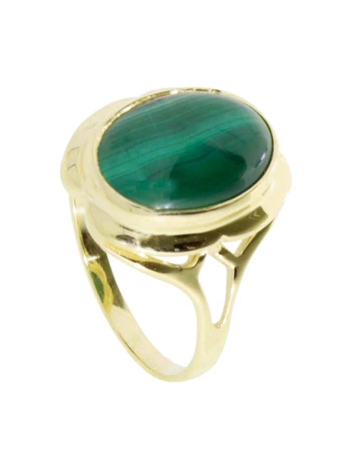 OSTSEE-SCHMUCK Ring - Dunia - Gold 333/000 - Malachit, gold