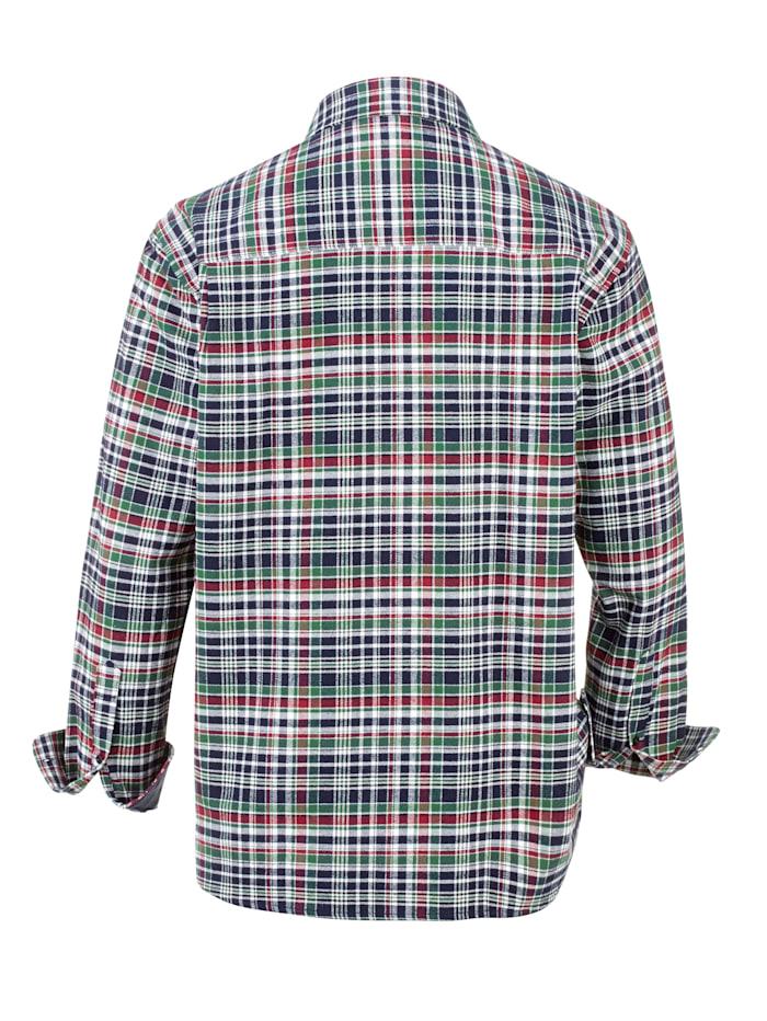 Flanellhemd mit 1 Brusttasche