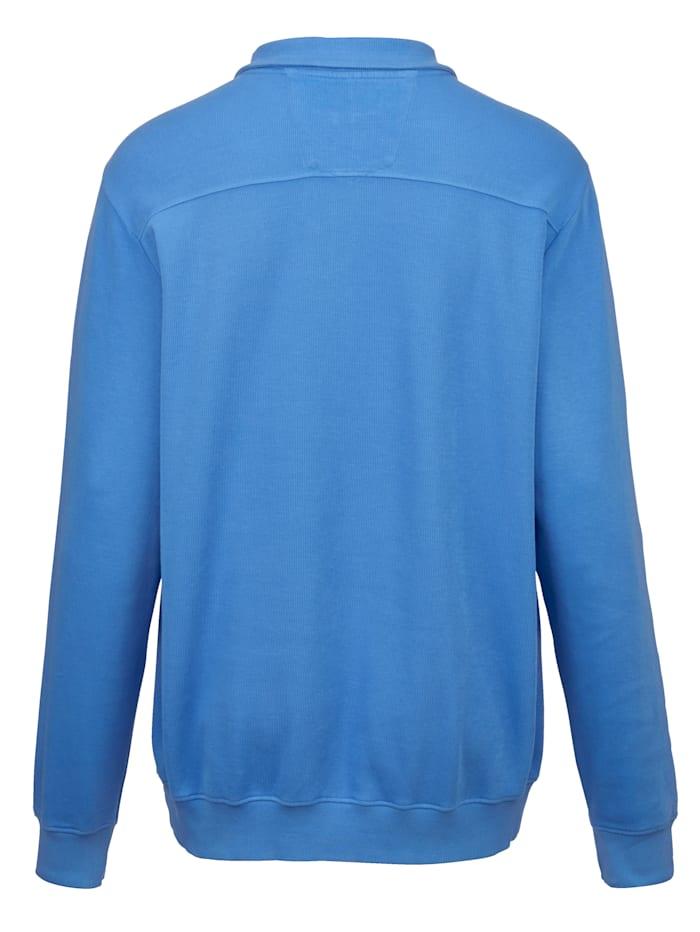 Sweatshirt i ribbet materiale