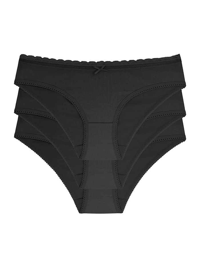 Dorina Slip, 3er-Pack STANDARD 100 by OEKO-TEX zertifiziert, Black/black/Black