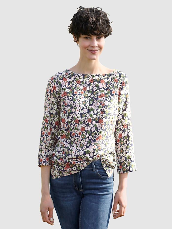 Dress In Bluse mit schönem Blumendruck, Grün