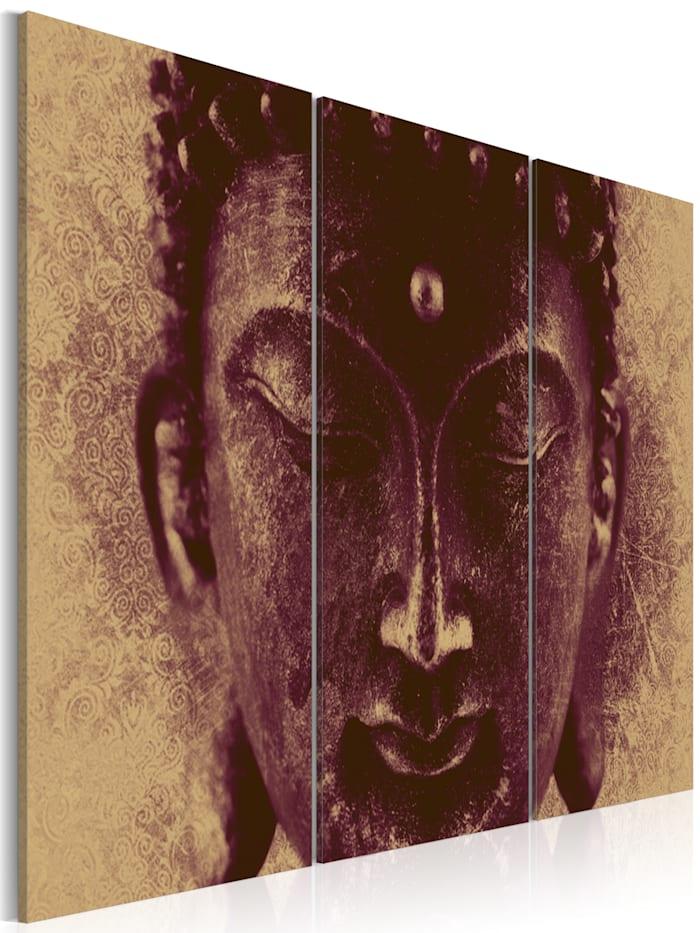 artgeist Wandbild Religion: Buddhismus, Beige,Schwarz,Violett