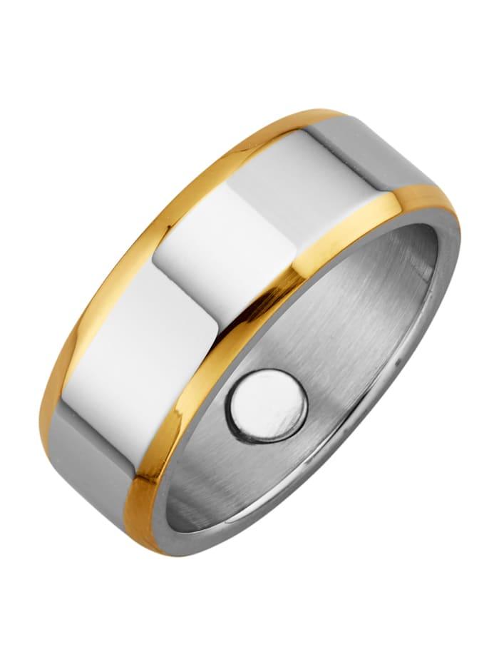 Magnetic Balance Damenring, Edelstahl, Silberfarben