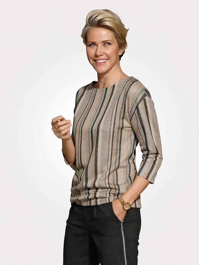 MONA T-shirt avec fil brillant, Écru/Anthracite