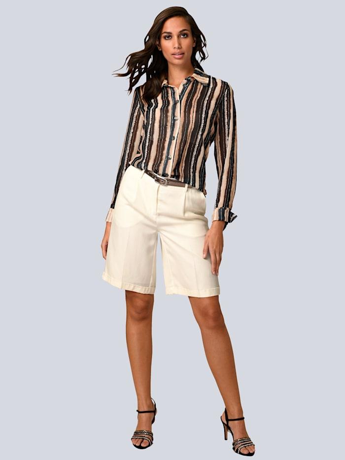 Shorts aus fließender Viskose
