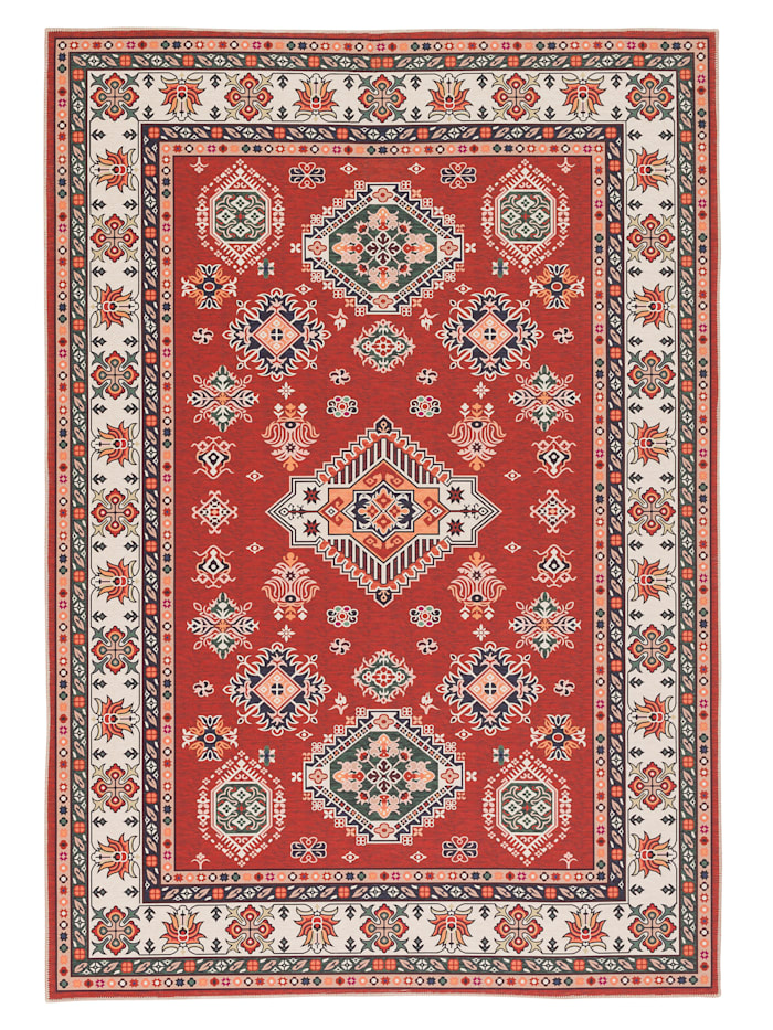Pergamon Luxus Orient Teppich Primus Bordüre, Rot