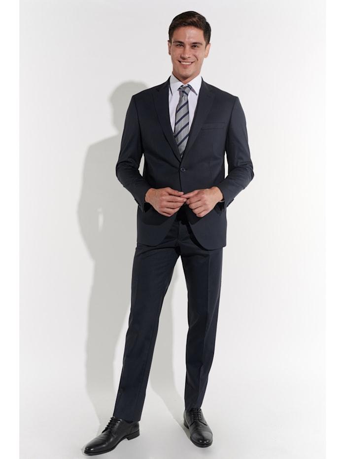 Steffen Klein Herren Anzug aus Wolle, Marine
