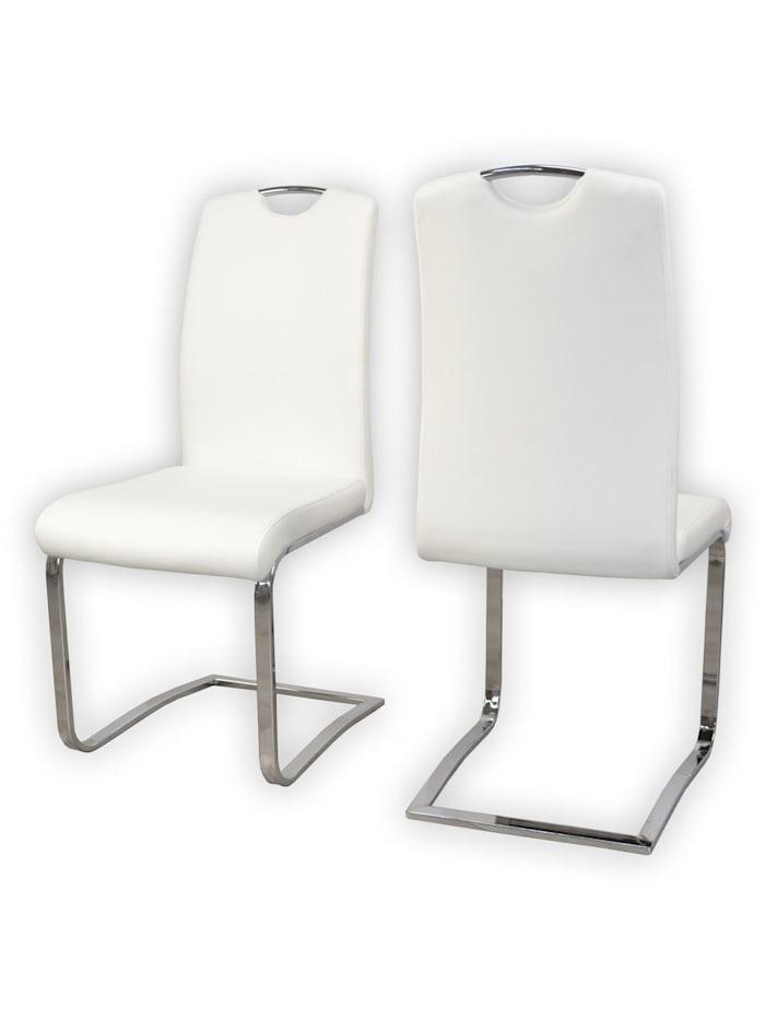 Möbel-Direkt-Online Polsterstuhl 2Stück Dagmar, weiß