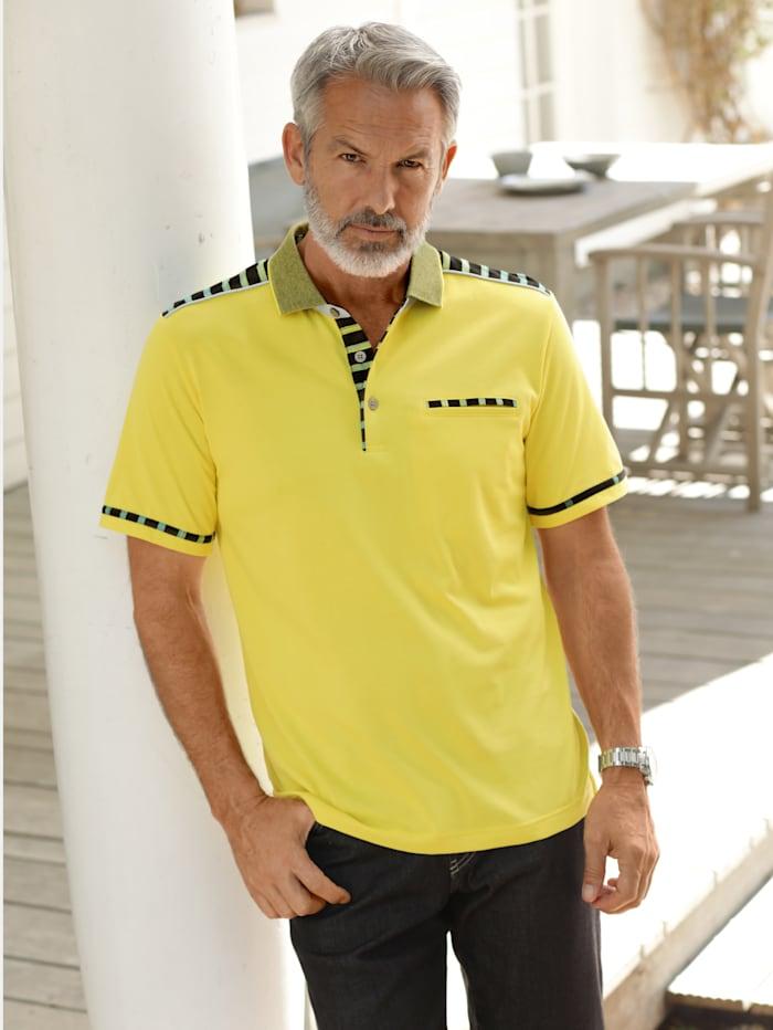 BABISTA Poloshirt mit veredelter Baumwolle und feinster Microfaser, Gelb