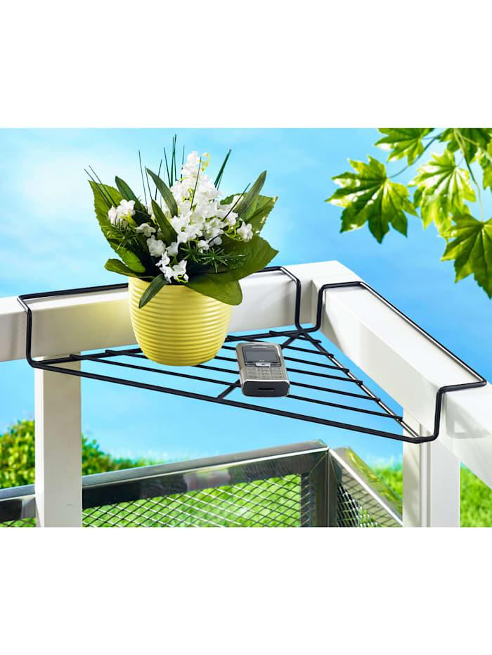 Balkonghörn för blommor eller förvaring, Svart